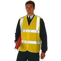High Visibility Yellow 2-Band Waistcoat Class 2 Size L/XL