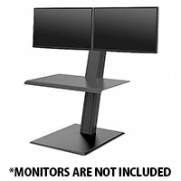 Humanscale QuickStand ECO Height-Adjustable Sitting/Standing Dual  Monitor Workstation Black QSEBD