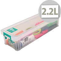 StoreStack 2.2 Litre Box Clear W370 x D110 x H80mm RB75896