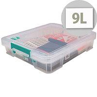StoreStack 9 Litre Box Clear W430 x D360 x H90mm RB75897