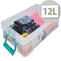 StoreStack 12 Litre Box Clear W550 x D360 x H90mm RB75898