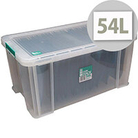 StoreStack 54 Litre Box Clear W640 x D380 x H310mm RB77234