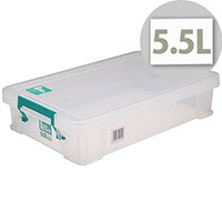 StoreStack 5.5 Litre Storage Clear Box W400xD255xH80mm RB90121