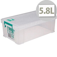StoreStack 5.8 Litre Storage Box Clear W350xD190xH120mm RB90122