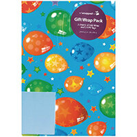 Regent Packaged Wrap Blue Balloons Pack of 12 F322