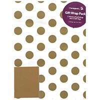 Regent Packaged Wrap Gold Spots Pack of 12 F747