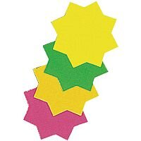 RDI Ticket Board Star 4 inch Fluorescent Assorted Pack of 30 TB4