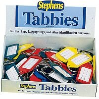 Stephens Assorted Tabbies Keyrings Display Pack of 50