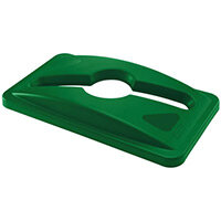Rubbermaid Slim Jim Commingle Lid For Paper Bottles & Cans Green