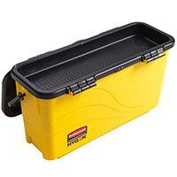 Rubbermaid HYGEN Top Down Charging Bucket With Sieve Yellow
