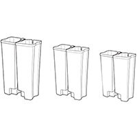 Rubbermaid Dual Liner 2 x 15L Set For Metal Slim Jim 30L/8G Front Step Pedal Bin