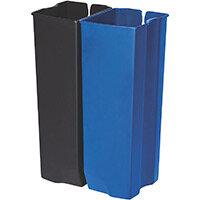 Rubbermaid Dual Liner 2 x 25L Set For Metal Slim Jim 50L/13G Front Step Pedal Bin
