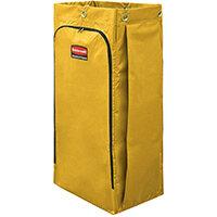 Rubbermaid 129L High Capacity Vinyl Janitor Cart Bag Yellow