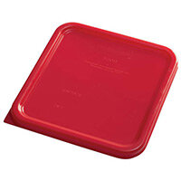 Rubbermaid Small Lid for 3.8L & 7.6L Space Saving Square Food Storage Containers Red