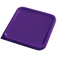 Rubbermaid Small Lid for 3.8L & 7.6L Space Saving Square Food Storage Containers Purple