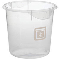 Rubbermaid Round 3.8L Food Storage Container Graduated Clear & Colour Coded Brown
