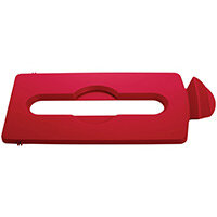 Rubbermaid Slim Jim Recycling Station Stream Topper Red Paper Slot Lid