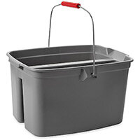 Rubbermaid Double Bucket 18L Grey