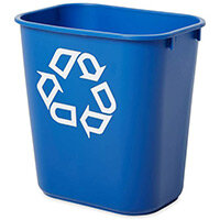 Rubbermaid 12.9L Rectangular Waste Basket Blue