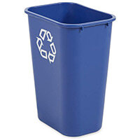 Rubbermaid 39L Rectangular Waste Basket Blue