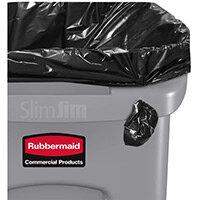 Rubbermaid Slim Jim 87L Waste Container With Venting Channels Grey