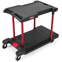 Rubbermaid Convertible Utility Cart Black