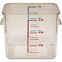 Rubbermaid 5.7L Space Saving Stackable Food Storage Square Container Graduated Clear