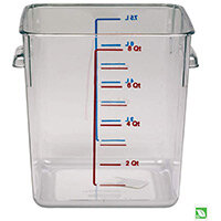 Rubbermaid 7.6L Space Saving Stackable Food Storage Square Container Graduated Clear