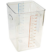 Rubbermaid 20.8L Space Saving Stackable Food Storage Square Container Graduated Clear