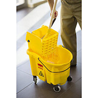 Rubbermaid WaveBrake Side Press Combo Mopping Trolley Yellow