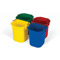 Rubbermaid Colour Coded 5ltr Buckets Set of 4 Colours Red Yellow Blue & Green