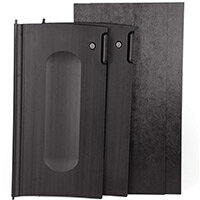 Rubbermaid Locking Cabinet Doors Black