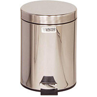 Rubbermaid Small Pedal Bin 5.6L Stainless Steel