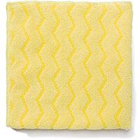 Rubbermaid HYGEN Microfiber Cloth With Zig-zag Scrubbing Strips Yellow