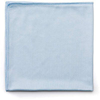 Rubbermaid HYGEN Size 16 x 16 Microfiber Glass & Mirror Cleaning Cloth Blue