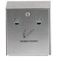 Rubbermaid Wall Mountable Smokers' Station Ash & Cigarette Bin Stainless Steel