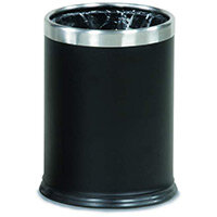 Rubbermaid Executive Series Hide-A-Bag Open-Top Waste Bin 13.2L Black