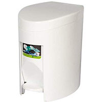 Rubbermaid Vanity Pedal Bin 6L White