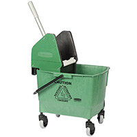 Rubbermaid 25L Combo Bravo Mop Bucket with Wringer Green