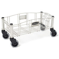 Rubbermaid Powder Coated Steel Dolly For Slim Jim Containers