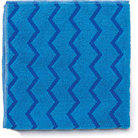 Rubbermaid HYGEN Microfiber Cloth With Zig-zag Scrubbing Strips Blue