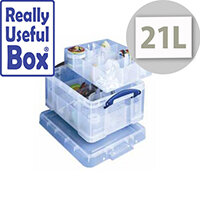 Really Useful 21 Liter Box 6 part & 12 part Dividers Clear In Colour. Ideal For Use In Hospitals, Offices, Schools, Paramedics, Art Supplies & More.