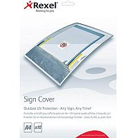 Rexel Outdoor UV Sign Cover A4 Pack of 10