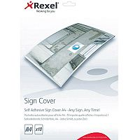 Rexel Self Adhesive Sign Cover A4 Pack of 10
