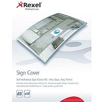 Rexel Self Adhesive Sign Cover A5 Pack of 10