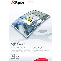 Rexel Standard Gloss Sign Cover A4 Pack of 10