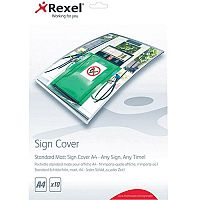Rexel Standard Matt Sign Cover A4 Pack of 10