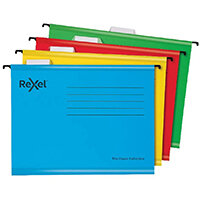 Rexel Classic Suspension Files Foolscap Yellow Pack of 25 2115593