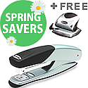 Rexel Torador Stapler Full Strip Silver and Black with FREE Rexel P215 Precision Hole Punch Silver and Black RX810139