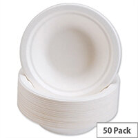 Caterpack Bowls Super Rigid 7inch (12oz) Biodegradable Bowls (Pack 50) 3866